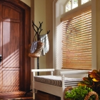 Faux Wood Blind in Natural Wood Finish