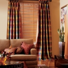 """2 1/2"""" Wood Blind with Drapery Panels"""