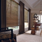 Parkland Stained Blind with White Trim