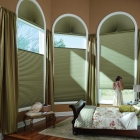 Honeycomb Shade in Arch Window