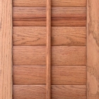 Rift cut oak shutters are also available from Kirtz.
