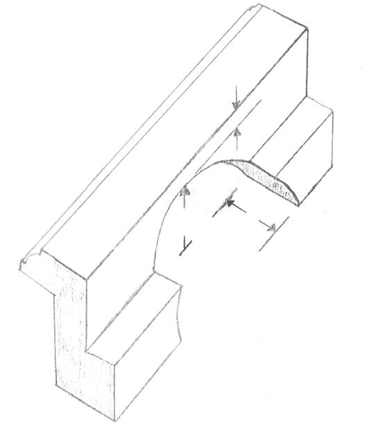 Round notch for lever lock