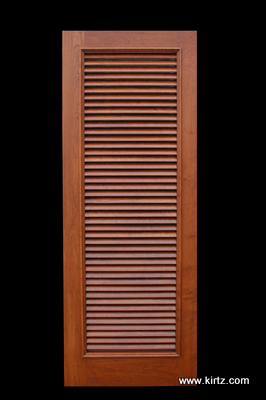 """Cherry fixed louvered door, 1 7/8"""" louver"""
