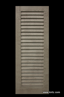 """3 1/2"""" fixed louver door, with specialty finish"""