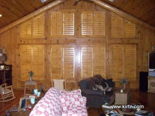 Knotty Pine Shutters by Kirtz Shutters, Triangle (rake) shaped shuttters