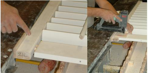The shutter comes together on the clamp table and is pin nailed for extra strength