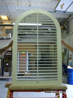 plantation shutter, frontside, with insect screen