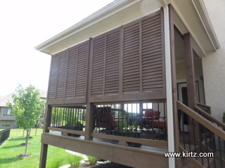 Bahama Style Exterior Shutters by Kirtz Shutters create Privacy ...