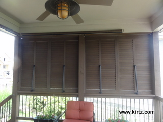 Bahama style exterior shutters by kirtz shutters create for Privacy shutters for deck