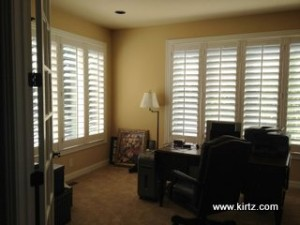 Home Office with Plantation Shutter by Kirtz Shutters