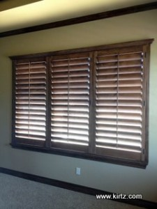 A Cornice Top adds impact to these plantation shutters