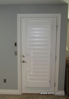 Square Shutter Cut Out Door Kirtz Shutters Custom