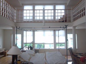 Room view before shutters