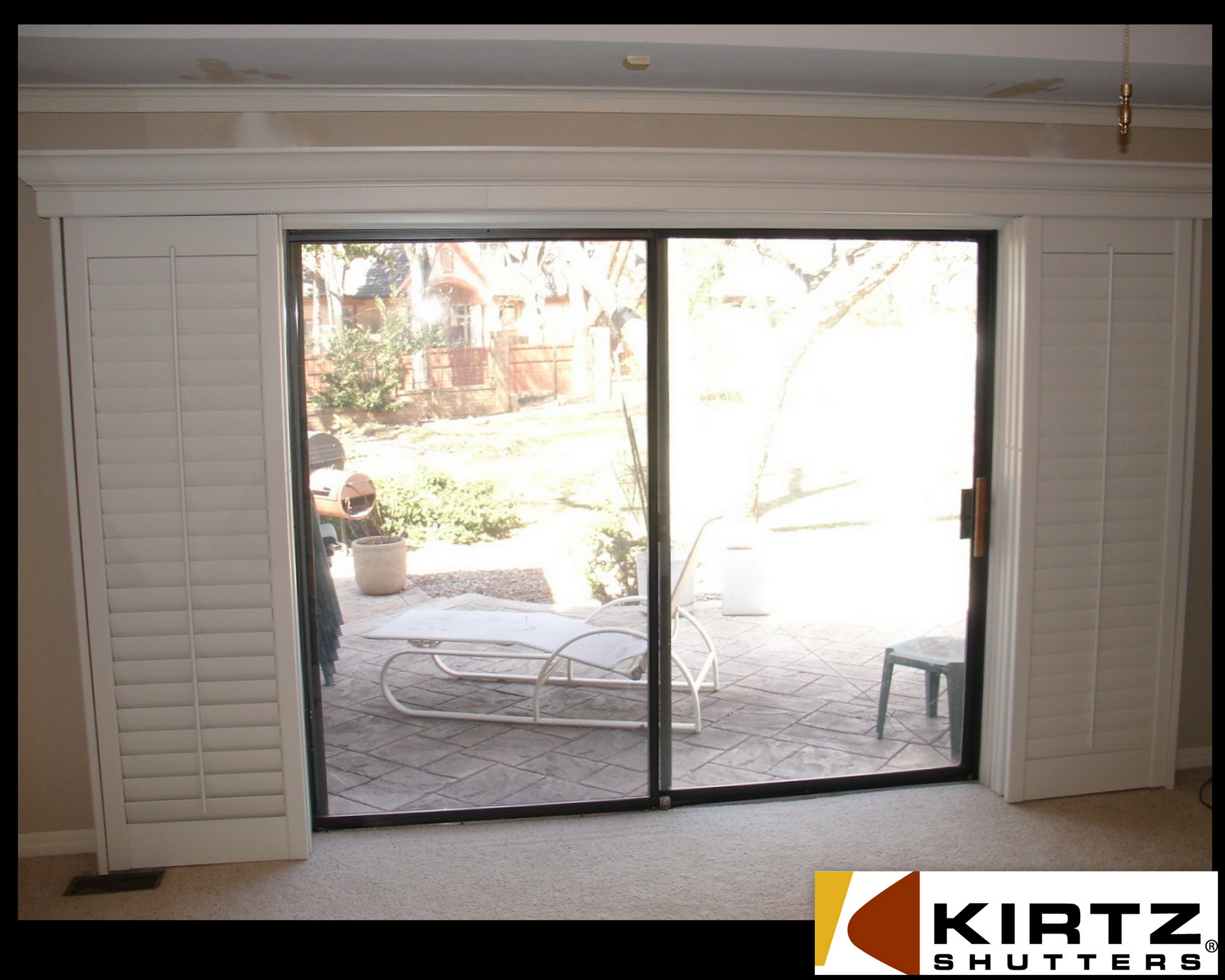 Wood french doors interior