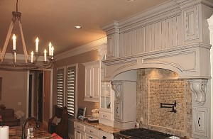 Grey Painted Shutters with White Woodwork