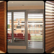Walnut Plantation Shutters