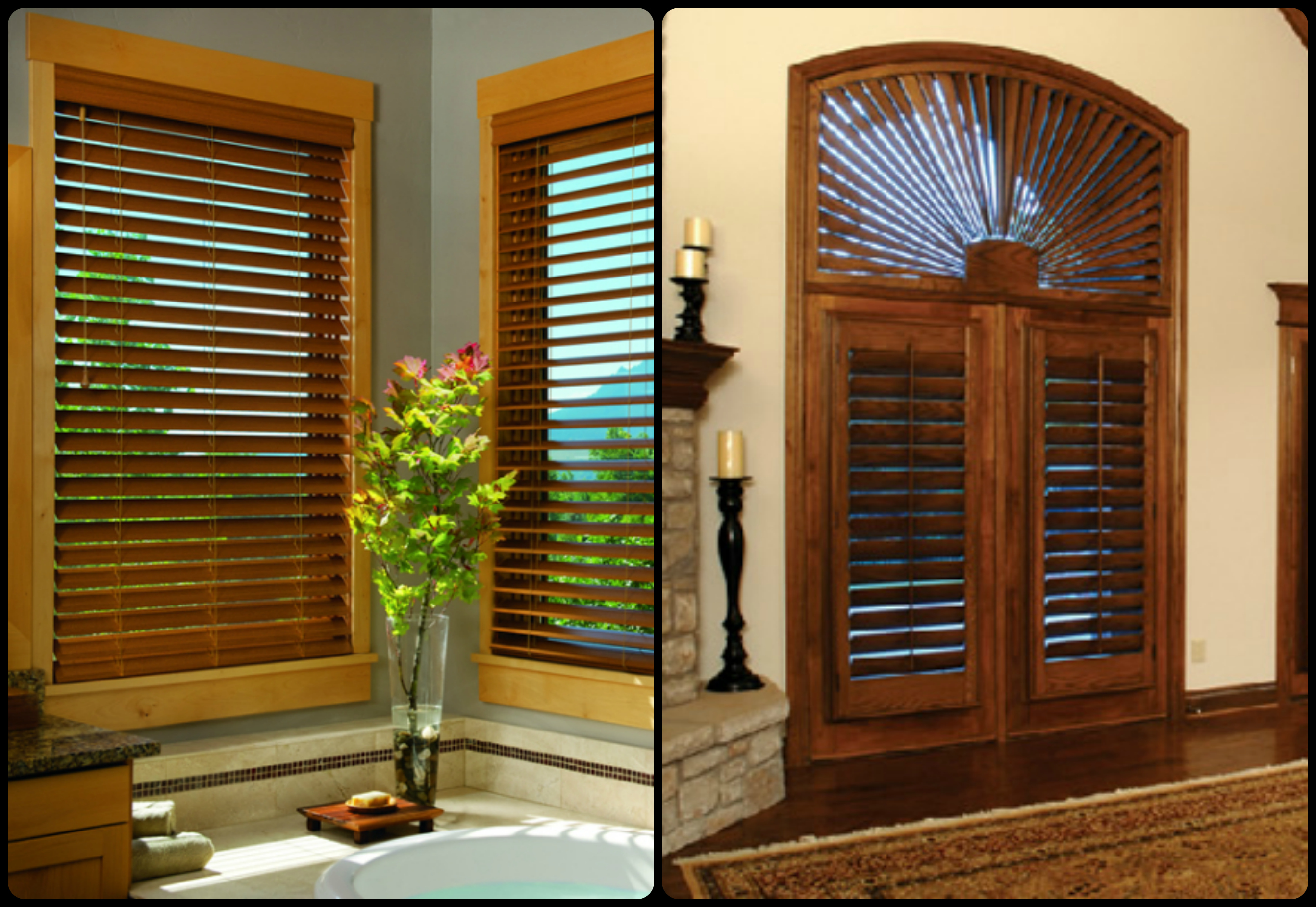 Mixing Faux Wood Blinds And Plantation
