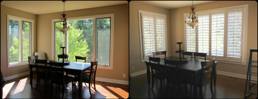 Breakfast Nook- Plantation Shutters