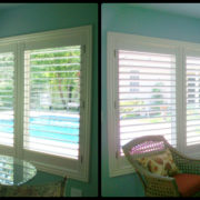 Pool House- Plantation Shutters